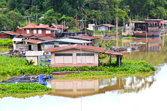 Thai Style Floating House Stock Photo