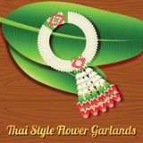 Thai style flower garland,a respect object indication to older p Stock Image