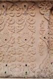 Thai style flower stucco texture background.  Royalty Free Stock Photo
