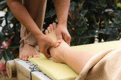 Thai Style Foot Massage Stock Photos