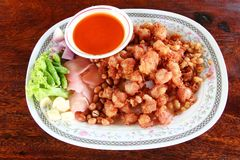 Thai style fried chicken Royalty Free Stock Images