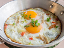Thai style fried egg Royalty Free Stock Image