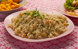 Thai style fried rice. Ready to serve on dish Stock Images