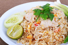 Thai Style Fried rice with pork in Bangkok, Thailand Royalty Free Stock Image