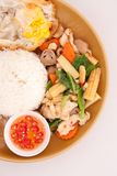 Thai style fried vagetable wiht egg Royalty Free Stock Images