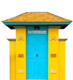 Thai style of the front door Stock Image