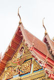 Thai style gable of Buddhist temple Stock Images
