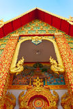 Thai style gable in the monastery Stock Image