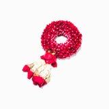 Thai style garland made of rose petals Stock Photos
