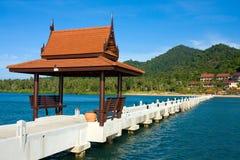 Thai-style gazebo on the pier Royalty Free Stock Image