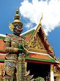 Thai style giant statue  at Temple of Emerald Buddha Royalty Free Stock Image