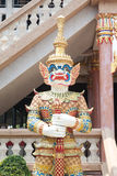 The Thai style giant at Thai temple Royalty Free Stock Photography