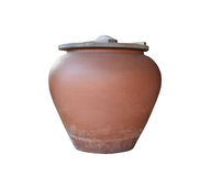 Thai style glazed earthenware water jars. Ancient antique asia, asian, beautiful, big, brown clay tradition traditional water Stock Images