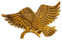 Thai style golden bird carving isolated Stock Image
