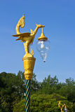 Thai style golden bird statue Stock Photos