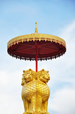 Thai style golden lion sculpture Stock Photography