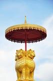 Thai Style Golden Lion Sculpture Stock Photography