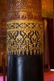 Thai style golden pole Royalty Free Stock Photos