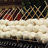 Thai style grill meat ball. On stove Royalty Free Stock Images
