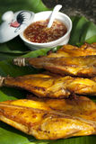 Thai Style Grilled Chicken with Chili Sauce. Thai style grilled chicken legs with sweet and spicy chili sauce royalty free stock photos
