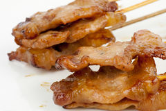 Thai Style grilled pork Royalty Free Stock Images