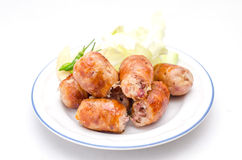 Thai style grilled pork sausages Royalty Free Stock Image