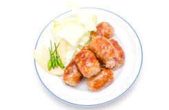 Thai style grilled pork sausages Stock Photos
