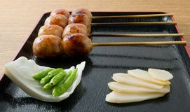 Thai Style Grilled Sausages on A Tray Royalty Free Stock Images