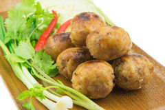 Thai style grilled sausages Stock Image