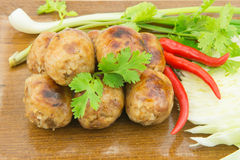 Thai style grilled sausages Stock Photography