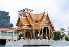 Thai style hall Royalty Free Stock Photos