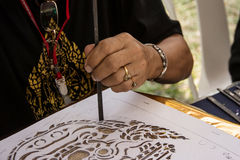Thai style hand craft, artist carving  thai stlye Stock Images