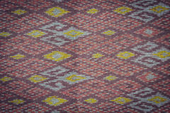 Thai style handcrafted textile made by silk from northeast, Thai Royalty Free Stock Image