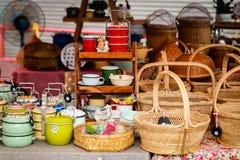 Thai style handmade basket Royalty Free Stock Image