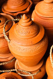 Thai style handmade clay pot. Royalty Free Stock Images