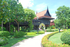 Thai style home. At Royal Folk Arts and Crafts Center at Bang Sai, ayutthaya Stock Photos