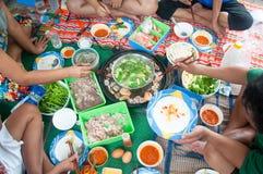 Thai style hot pot homemade Stock Photo