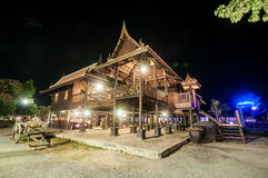 Thai style House. At floating market Royalty Free Stock Photos