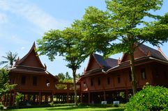 Thai style house, King Rama II memorial park Royalty Free Stock Photos