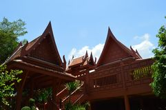 Thai style house, King Rama II memorial park Royalty Free Stock Images