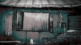Thai style house in slum Royalty Free Stock Photography
