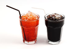 Thai style ice black coffee and ice Tea Royalty Free Stock Images