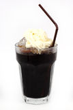 Thai style ice black coffee topping with whipping cream Royalty Free Stock Photo