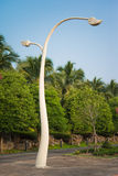Thai style light pole against blue sky Royalty Free Stock Photo