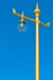 Thai style light pole. With blue sky Royalty Free Stock Images