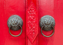 Thai style lion door knob Stock Photography