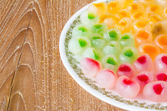 Thai style longan filled with jelly -- jewel jelly longan Royalty Free Stock Photography