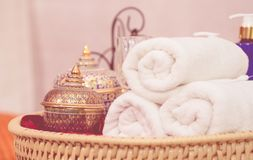Thai Style luxury spa equipment objects Royalty Free Stock Image