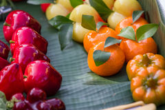 Thai style marzipan fruits Royalty Free Stock Image