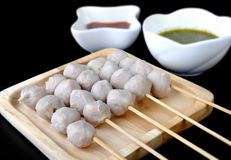 Thai style meat ball made from pork . Stock Image